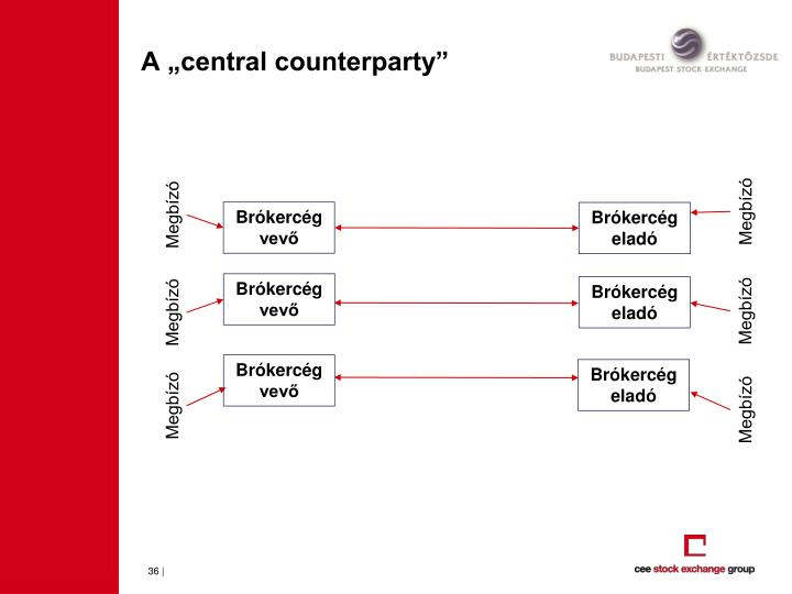 "A ""central counterparty"""