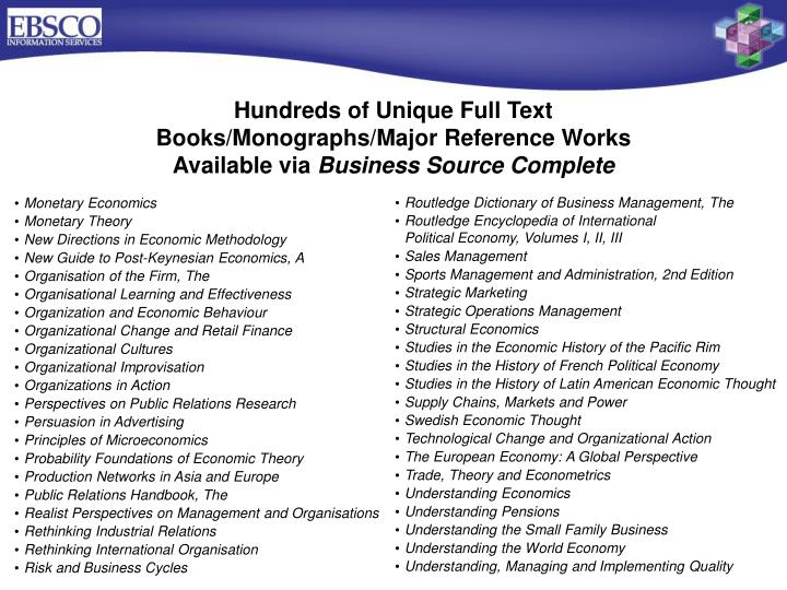 Hundreds of Unique Full Text