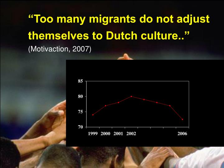 """Too many migrants do not adjust"