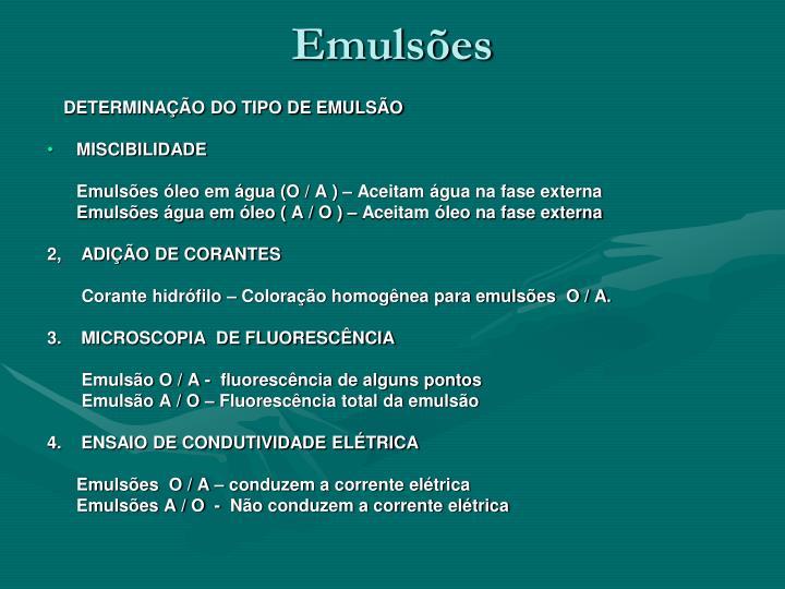 Emulsões