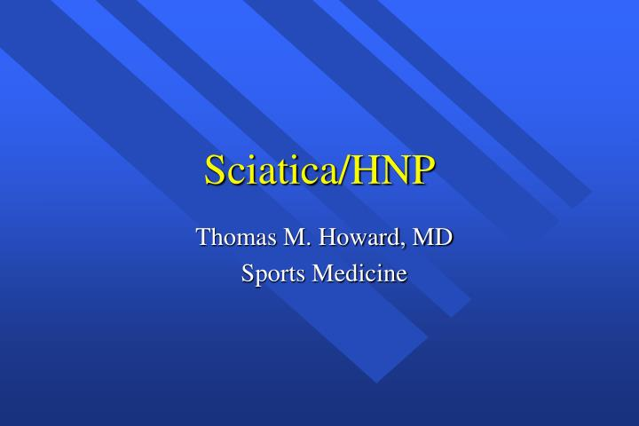 Thomas m howard md sports medicine