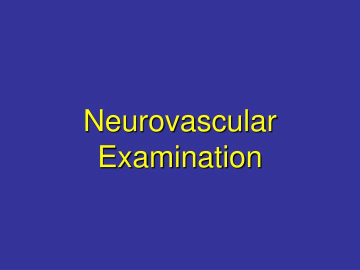 Neurovascular Examination