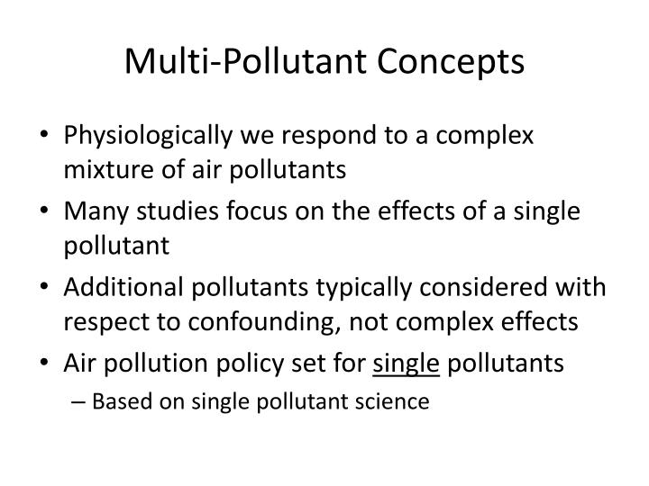 Multi-Pollutant Concepts