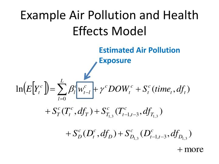 Example Air Pollution and Health Effects Model