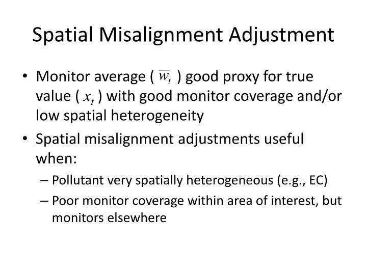 Spatial Misalignment Adjustment