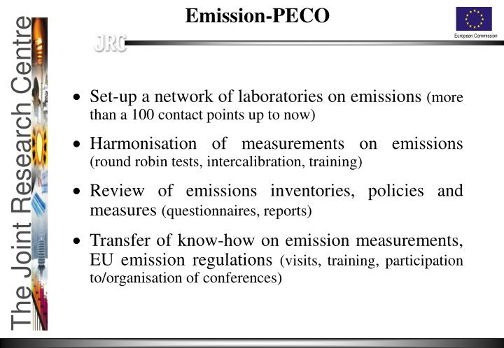 Set-up a network of laboratories on emissions