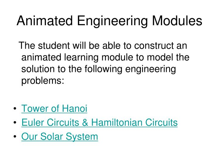 Animated Engineering Modules