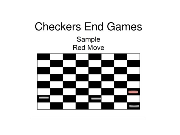 Checkers End Games