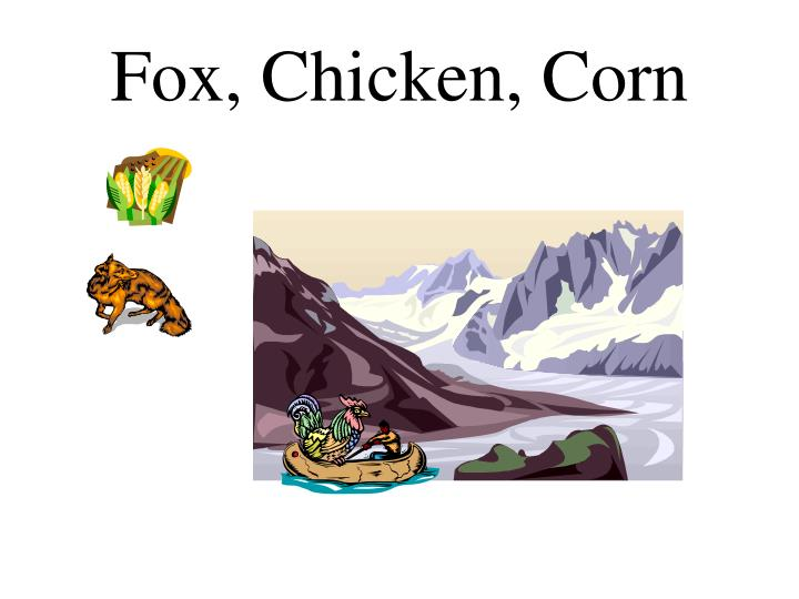 Fox, Chicken, Corn