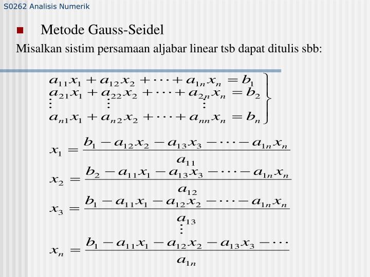 S0262 Analisis Numerik