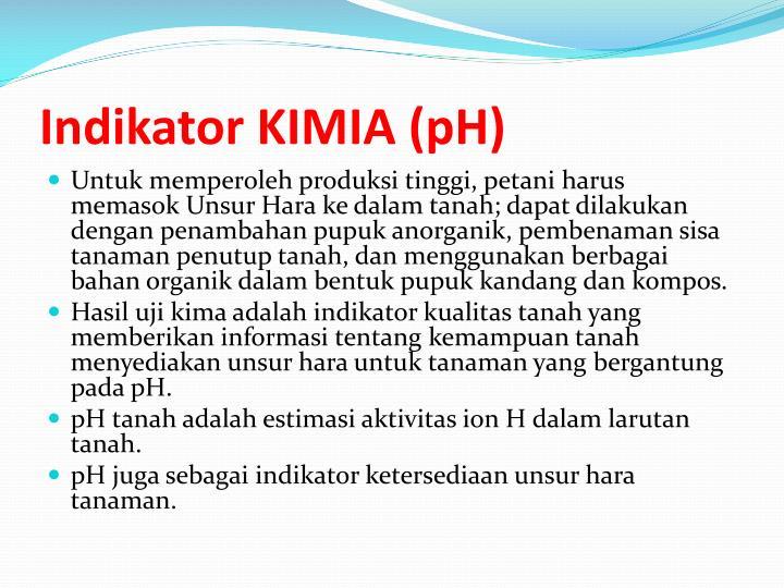 Indikator KIMIA (pH)