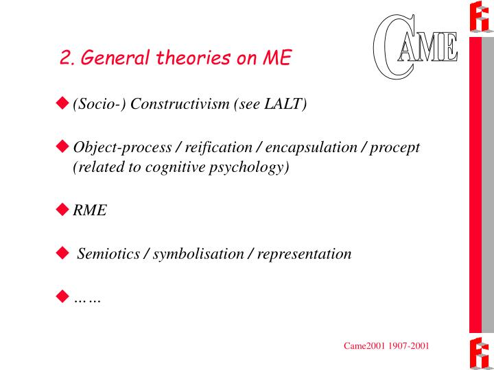2. General theories on ME