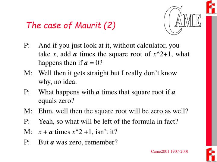 The case of Maurit (2)