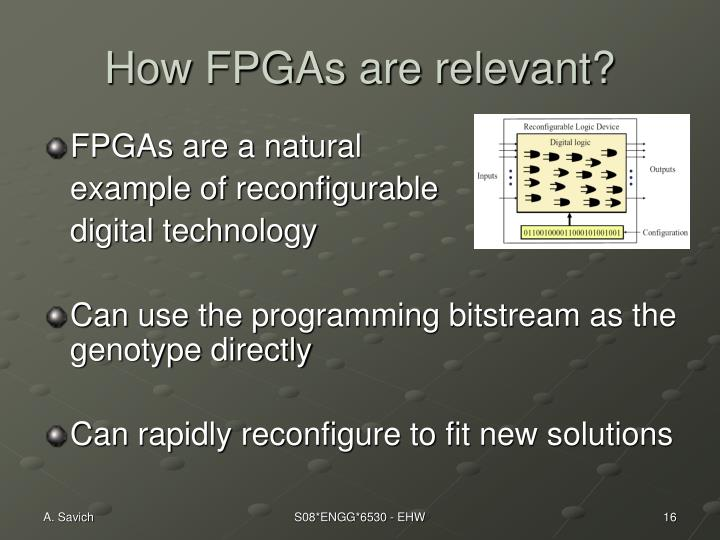 How FPGAs are relevant?