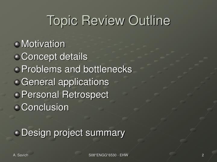 Topic Review Outline