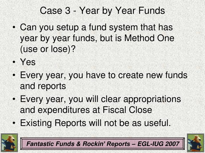 Case 3 - Year by Year Funds