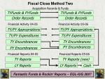 fiscal close method two
