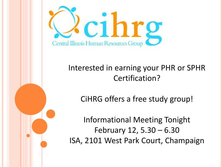 Interested in earning your PHR or SPHR Certification?