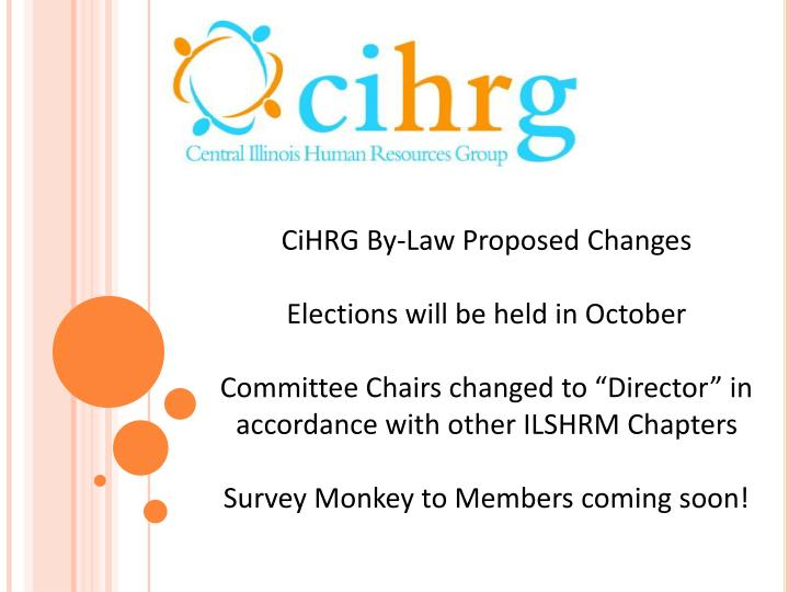 CiHRG By-Law Proposed Changes