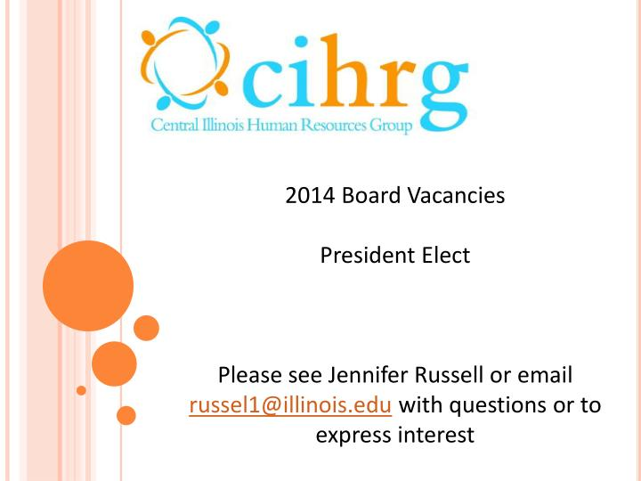 2014 Board Vacancies