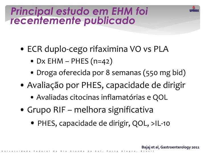 Principal estudo em EHM foi recentemente publicado