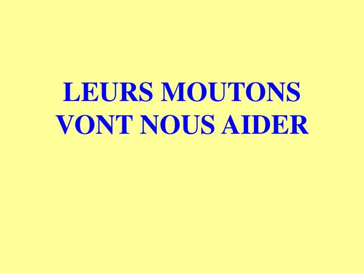 LEURS MOUTONS VONT NOUS AIDER