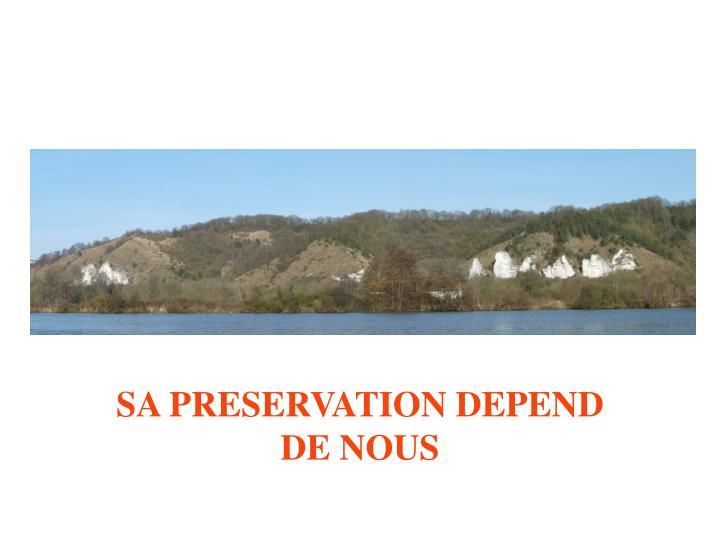 SA PRESERVATION DEPEND