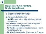 impulse der ka in finnland f r die deutsche ja2