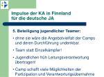 impulse der ka in finnland f r die deutsche ja5