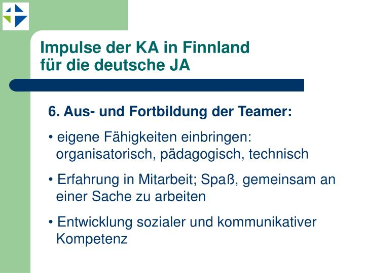 Impulse der KA in Finnland