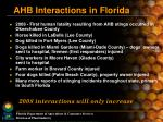 ahb interactions in florida