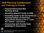 ahb planning collaboration and training in florida