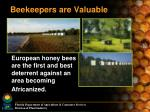 beekeepers are valuable