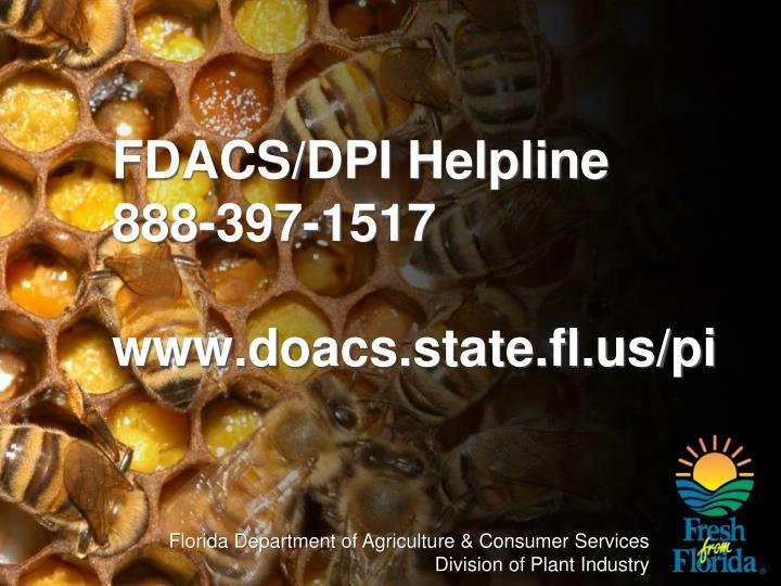 FDACS/DPI Helpline