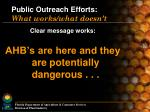public outreach efforts what works what doesn t