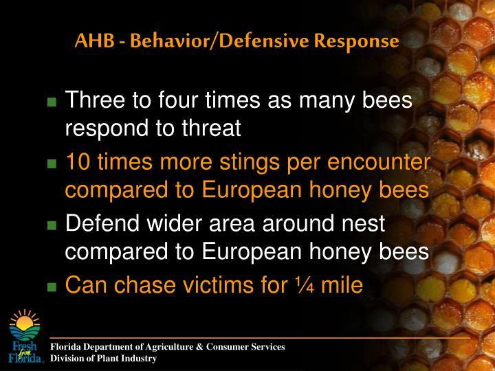 AHB - Behavior/Defensive Response