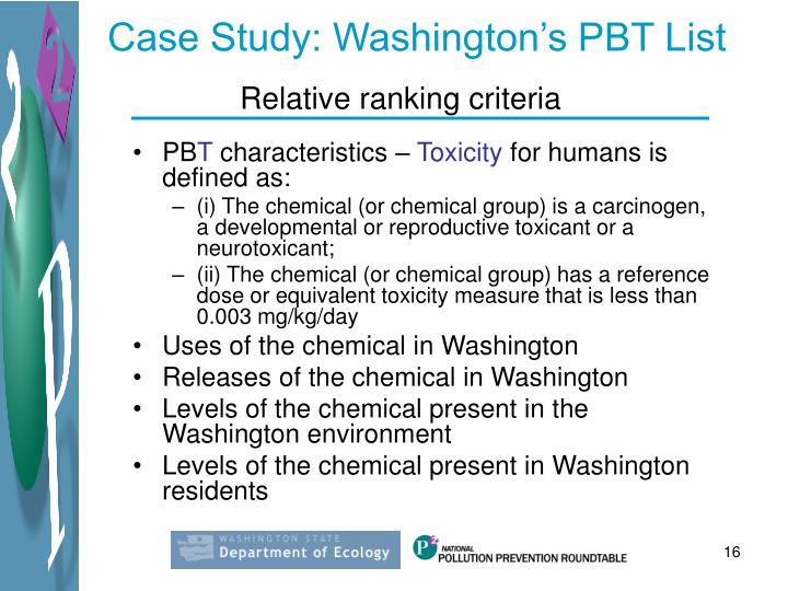 Case Study: Washington's PBT List