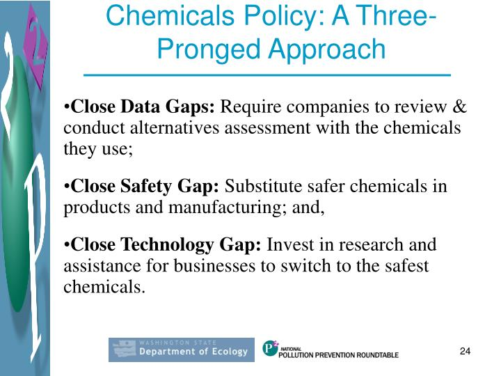 Chemicals Policy: A Three-Pronged Approach