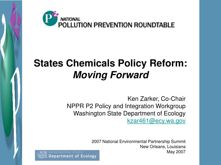States Chemicals Policy Reform: