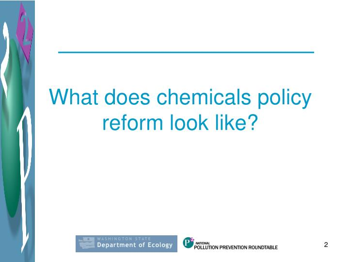 What does chemicals policy reform look like?