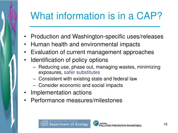 What information is in a CAP?