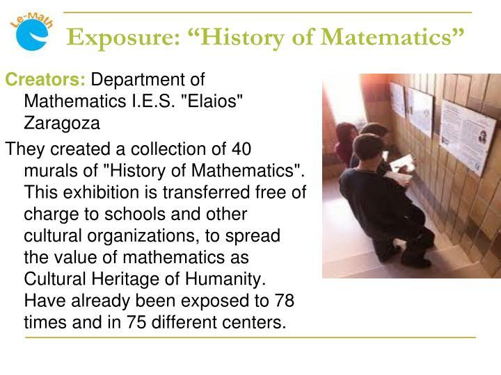 "Exposure: ""History of Matematics"""