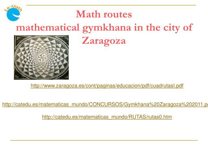 Math routes