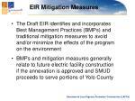 eir mitigation measures