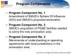 program components1