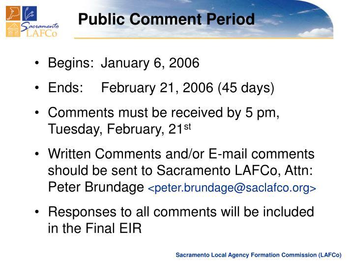 Public Comment Period