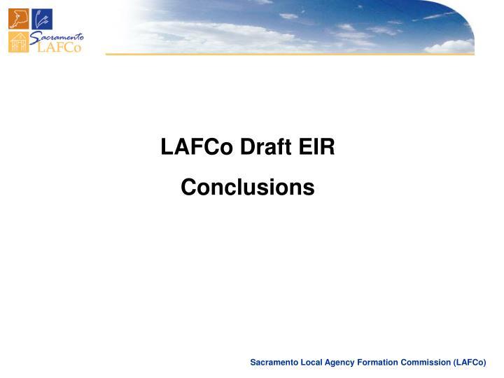 LAFCo Draft EIR