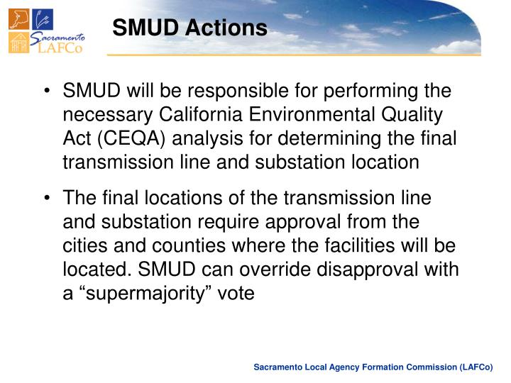 SMUD Actions