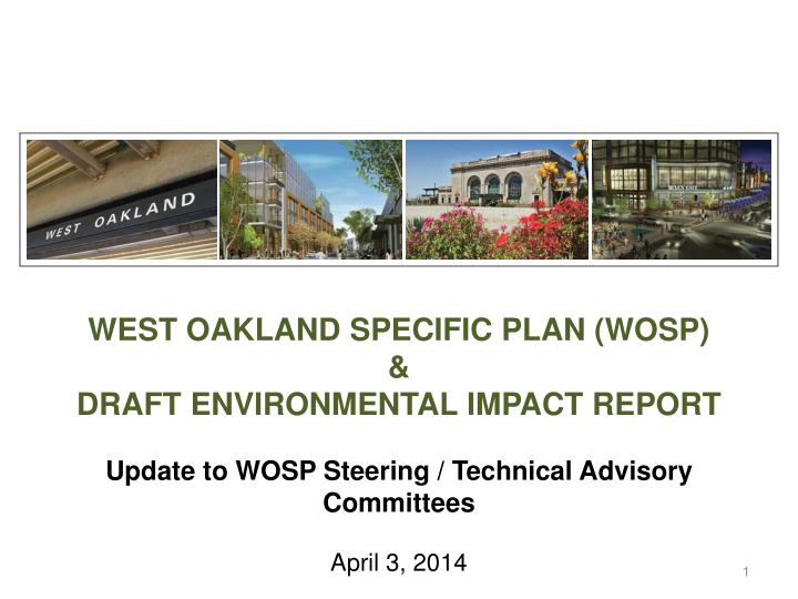WEST OAKLAND SPECIFIC PLAN (WOSP)