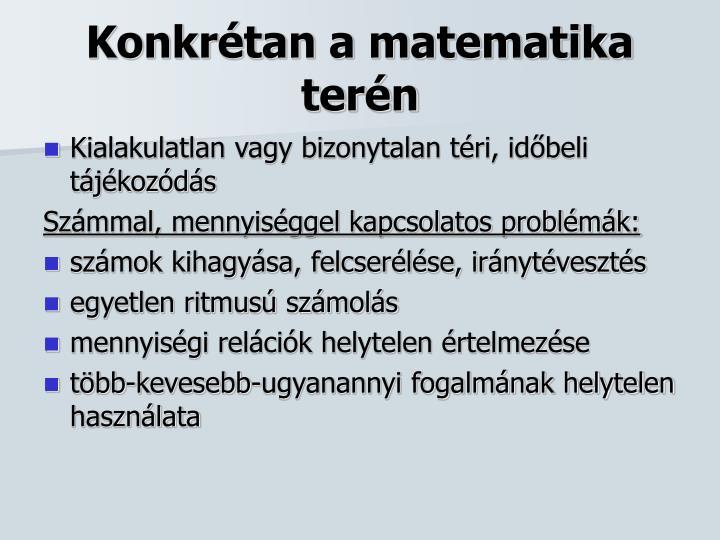 Konkrétan a matematika terén